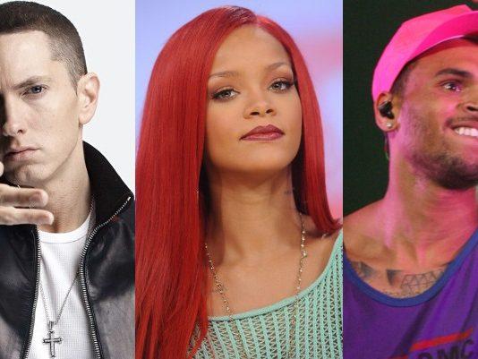 Eminem, Rihanna e Chris Brown