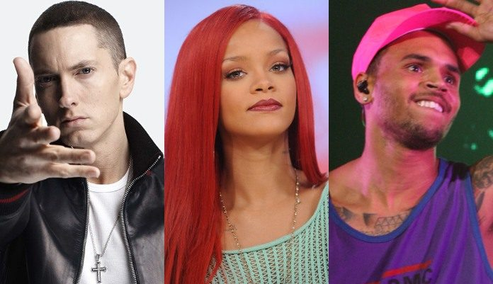 Eminem, Rihanna e Chris Brown
