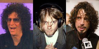 Howard Stern, Kurt Cobain (Nirvana) e Chris Cornell (Soundgarden)