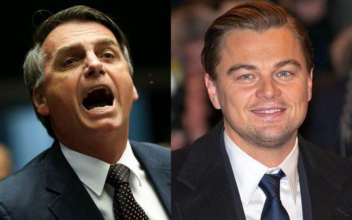 Jair Bolsonaro e Leonardo DiCaprio