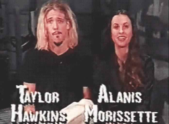 Taylor Hawkins e Alanis Morissette
