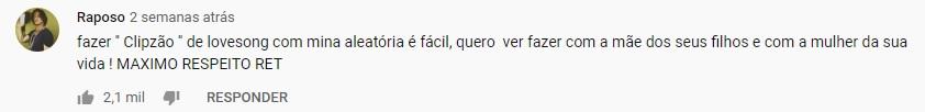 Comentário Filipe Ret