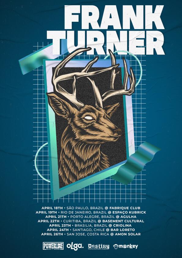 Pôster da turnê de Frank Turner