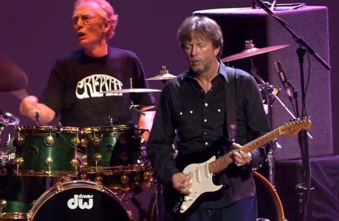 Ginger Baker e Eric Clapton em reunião do Cream