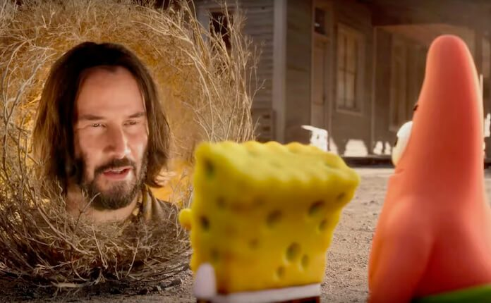 Keanu Reeves em Bob Esponja - O Incrível Resgate