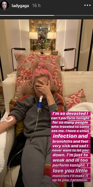 Lady Gaga com problemas de saúde