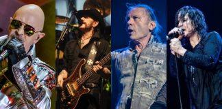 Judas Priest, Motorhead, Iron Maiden e Black Sabbath