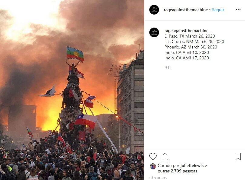 Rage Against The Machine no Instagram