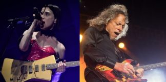 St. Vincent e Kirk Hammett