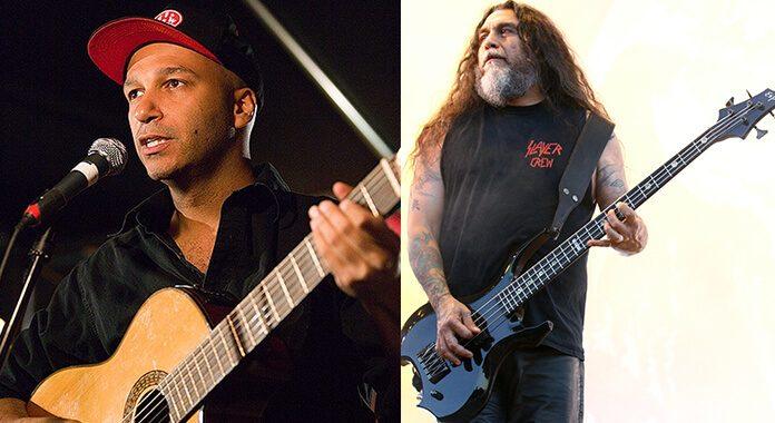 Tom Morello (Rage Against the Machine) e Tom Araya (Slayer)