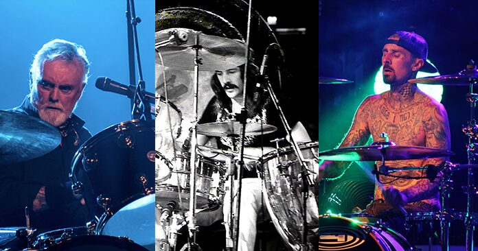 Roger Taylor, John Bonham e Travis Barker