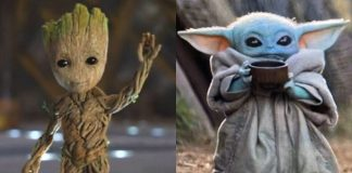 Baby Groot e Baby Yoda