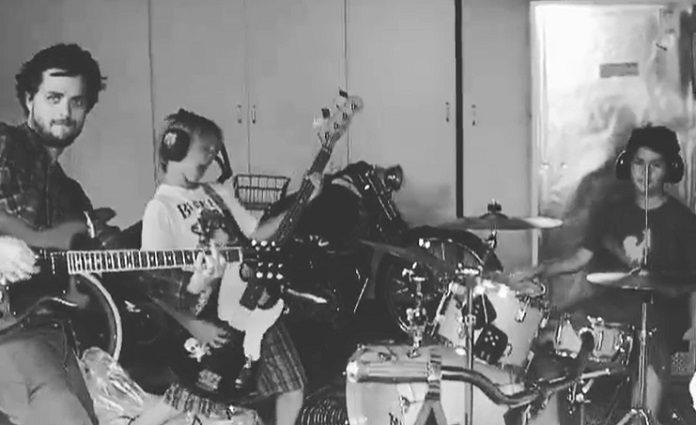 Billie Joe Armstrong e filho SWMRS
