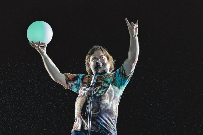 Jack Black com o Tenacious D no Rock In Rio 2019