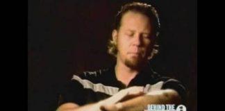 James Hetfield explicando acidente
