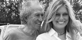 Keith Richards e sua esposa, Patti Hansen