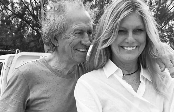 Keith Richards e sua esposa, Patti Hansen
