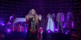 Mariah Carey canta música de Natal na televisão