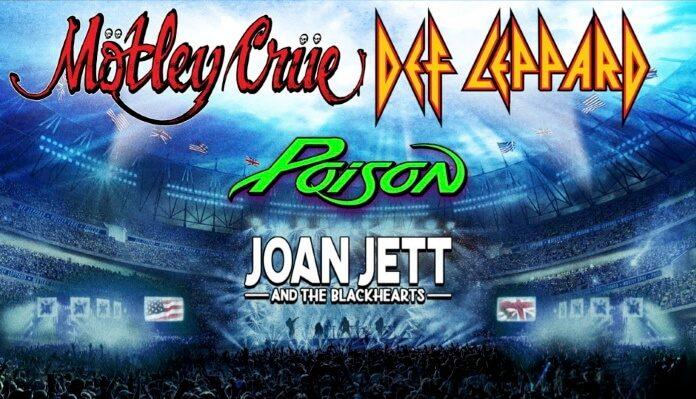 Mötley Crüe, Joan Jett, Def Leppard e Poison
