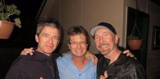 Noel Gallagher e The Edge com vizinho do Confidence Man