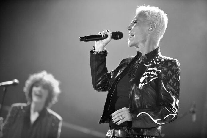 Marie Fredriksson com o Roxette