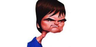 Caricatura de Samuel Rosa com camisa do Cruzeiro
