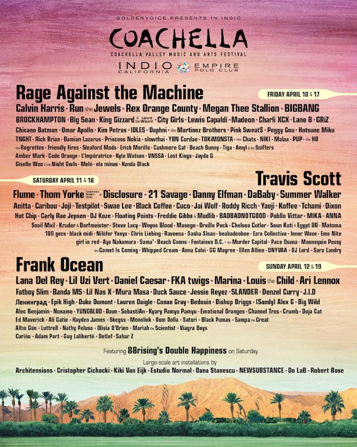 Coachella line-up 2020