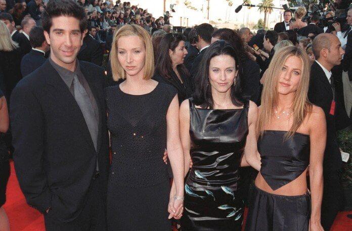 Friends: David Schwimmer, Lisa Kudrow, Courteney Cox, Jennifer Aniston