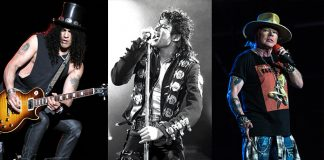 Slash, Michael Jackson e Axl Rose