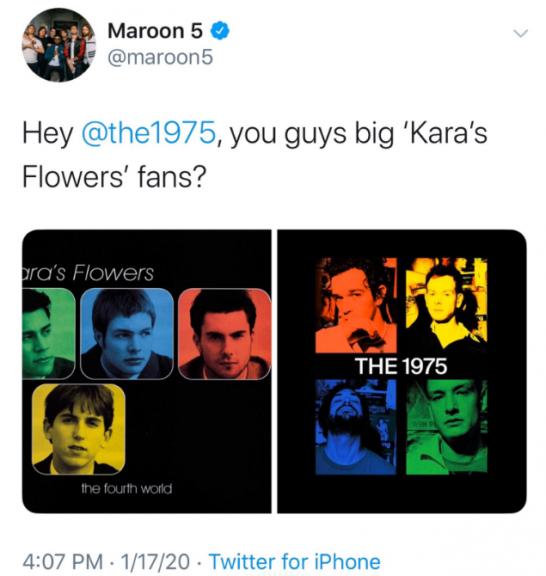 Maroon 5 acusa The 1975 por plágio