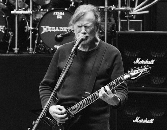 Megadeth ensaiando com Dave Mustaine
