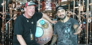 Neil Peart, do Rush, e Mike Portnoy