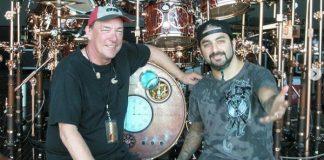Neil Peart, do Rush, e Mike Portnoy