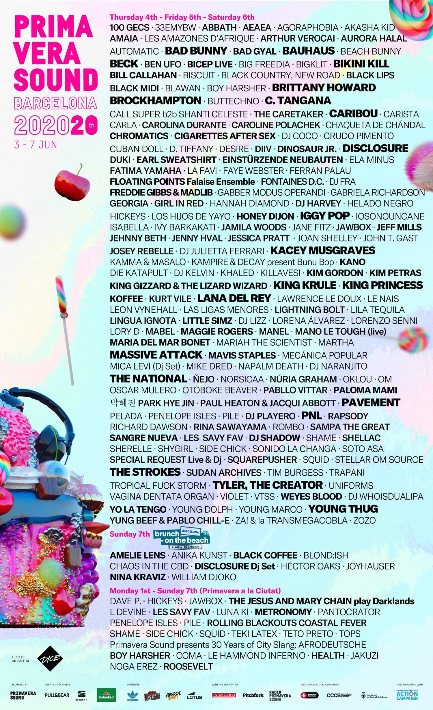 Line-up do Primavera Sound 2020