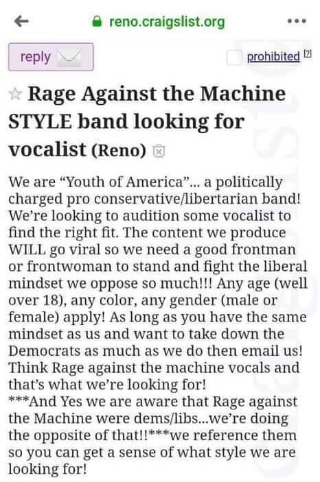 Rage Against The Machine de direita
