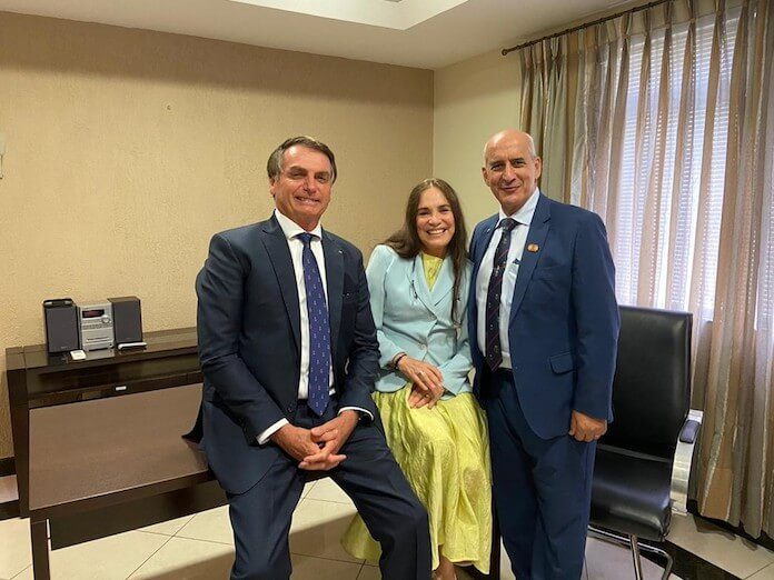 Regina Duarte e Jair Bolsonaro