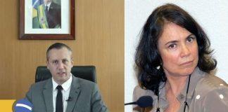 Roberto Alvim e Regina Duarte