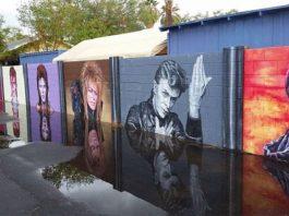 Mural em tributo a David Bowie