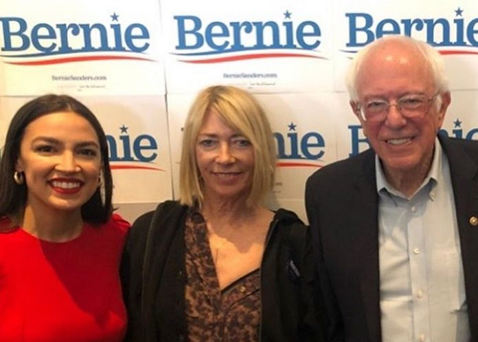 Kim Gordon e Bernie Sanders