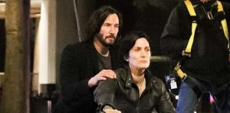 Neo (Keanu Reeves) e Trinity (Carrie-Anne Moss) Matrix 4