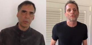 Arnaldo Antunes e Tony Bellotto, autores de O Pulso, dos Titãs