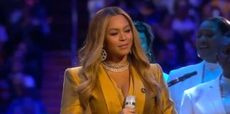 Beyoncé no funeral de Kobe Bryant