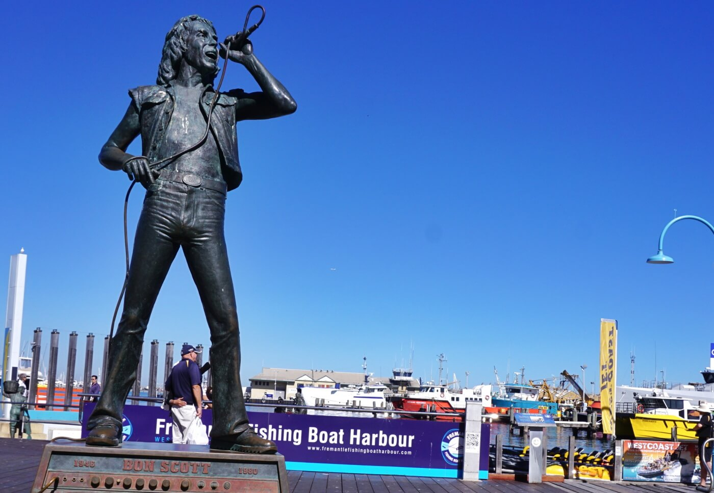 Estátua de Bon Scott em Fremantle, Austrália