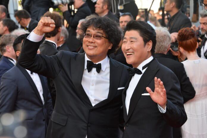 Bong Joon-Ho e Song Kang-ho em Cannes, 2019