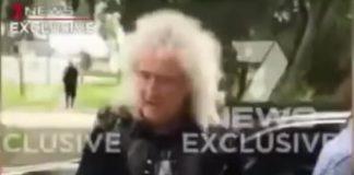 Brian May no incidente com operador de câmera