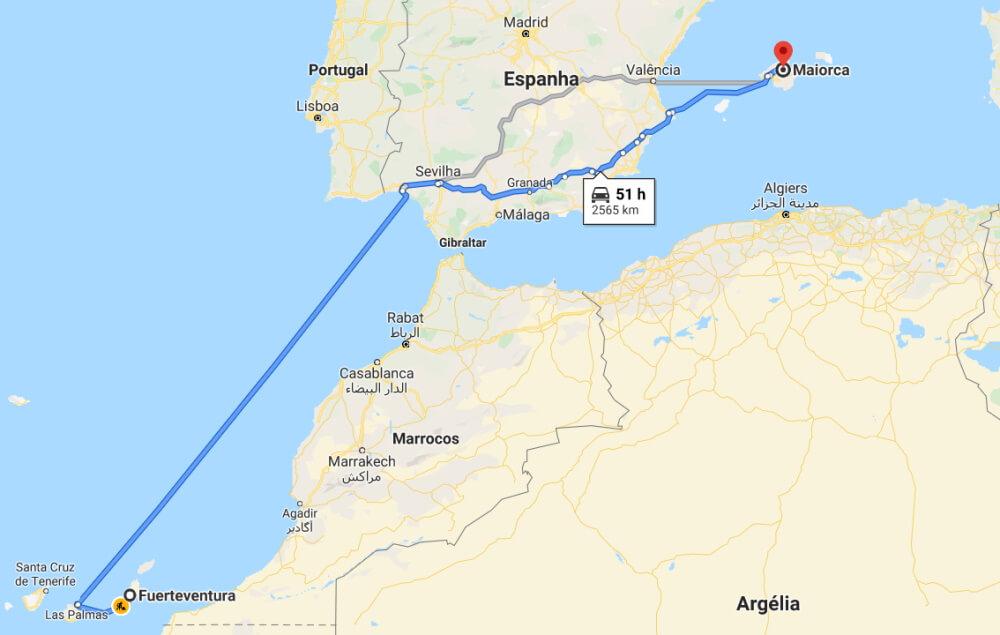 De Fuerteventura para Mallorca