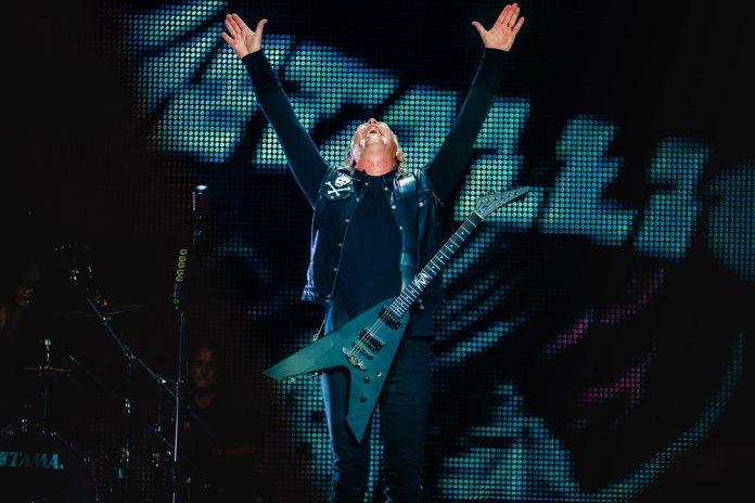 James Hetfield em show do Metallica, 2019