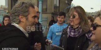 Joaquin Phoenix encontrando brasileiras em Londres