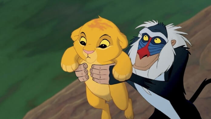 Rafiki e Simba em O Rei Leão