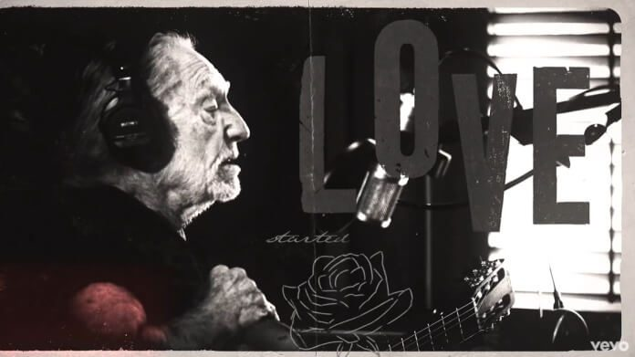 Willie Nelson no vídeo de First Rose of Spring